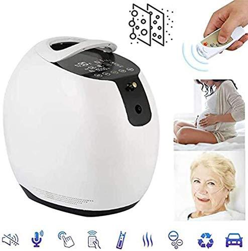 HUKOER purificador de aire portátil concentrador de oxígeno generador 1-6L / min 90% ~ 93% concentrador de oxígeno de alta pureza ajustable, 220 V para familia
