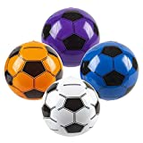 SN Incorp. Inflatable Soccer Balls for Kids - Theme Party, Decorations, Pool Toys, Party Favors - Bulk Pack of 12 Soccer Beach Balls 16 Inch in Assorted Colors
