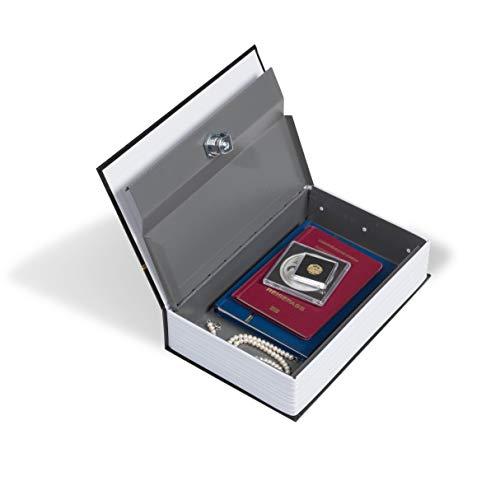 LEUCHTTURM Buch-Tresor mit Schlüssel – Buch-Safe in edler Einband-Optik inklusive 2 Schlüssel