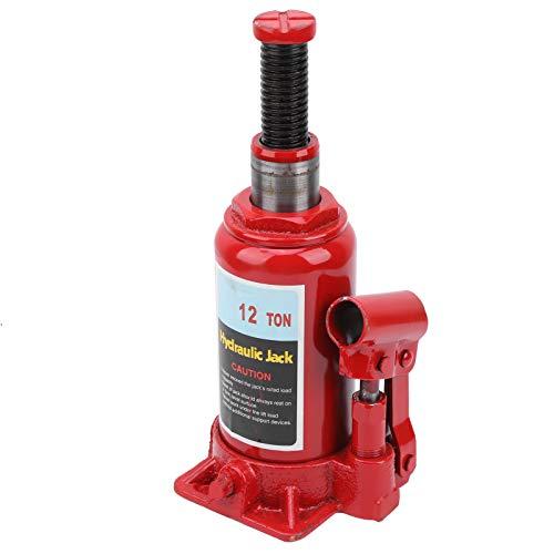 Gato hidráulico de Botella 12T, Gato de elevación 195-370mm para Coche, construcción y industriales