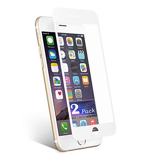 2 Pack Pellicola Vetro Temperato per iPhone 6 Plus e 6S Plus Protezione Dello Schermo aiMaKE Pellicola Protettiva Premium Display per iPhone 6S Plus 5.5 Pollici 3D Touch Compatible,9H Durezza -Bianco