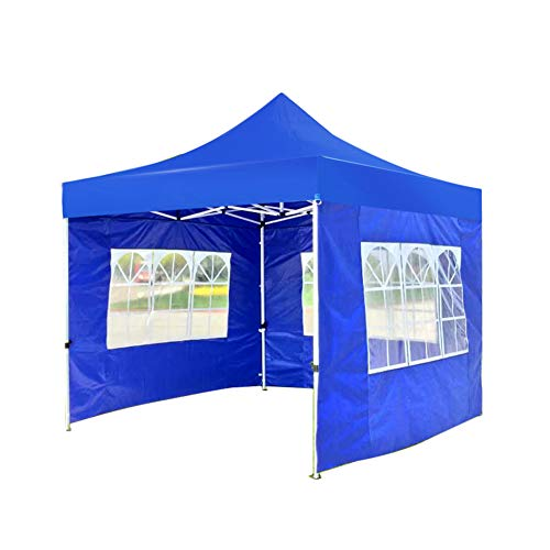 N / A 3X3M Pop-Up Garden Gazebo, Folding Event Shelters Tent, Commercial Instant Canopieswith Sidewalls, Window and Carry Bag