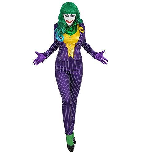 Mad Joker - Disfraz de mujer (chaqueta, chaleco, pantalones, blusa, guantes, talla XL)