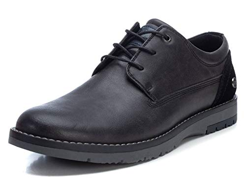 XTI - Zapato Oxford para Hombre - Cierre con Cordones - Color Negro - Talla 39