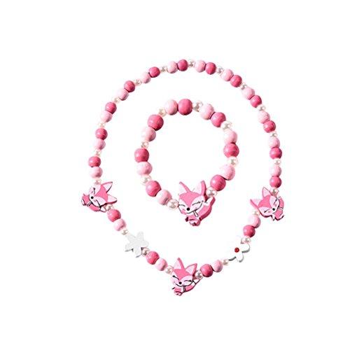 TENDYCOCO Halskette Bunte Tier Fox Form Armband Halskette Schmuck-Set für Kinder Mädchen