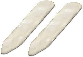 David Van Hagen Mens Mother of Pearl Effect Collar Stiffeners - Cream