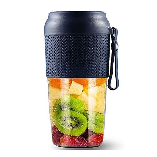 YFGQBCP Blender portátil, Smoothie Blender Blender fabricante de mini personal, USB recargable Copa Exprimidor con 6 palas, mezclador de frutas, 500 ml de Inicio deportes al aire libre Oficina de Viaj