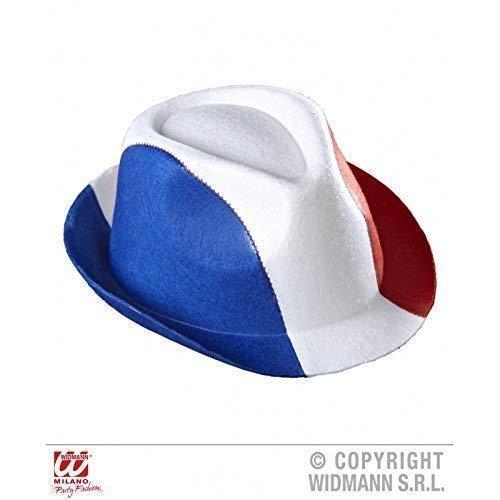 Lively Moments Ska Hut Frankreich / Fedora / Trilby Hut / Kopfbedeckung / Kostümzubehör / Frankreichhut