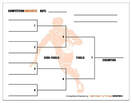 Perfect Strike Basketball-Klammern für Team-Turniere oder Skills-Wettkampf. Blechklammern für bis zu 8 Personen, Natur
