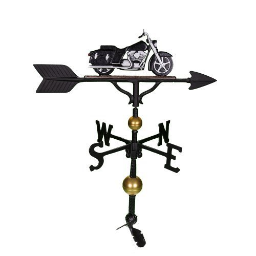Montague Metall Produkte 32Deluxe Wetterfahne mit Schwarz und Chrom Motorrad Ornament von Montague Metall Produkte