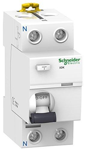 Schneider Electric A9R60225 Interruptor Diferencial, 2P, 25A, 30 mA, Clase AC
