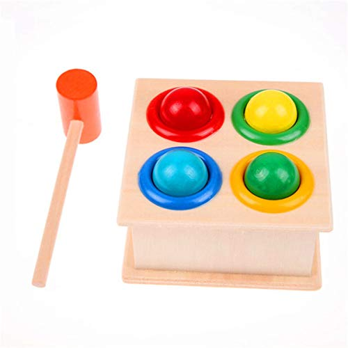 Winwinfly - Klopf- & Hämmerspielzeug in Holzfarbe, Größe 12*12*10cm