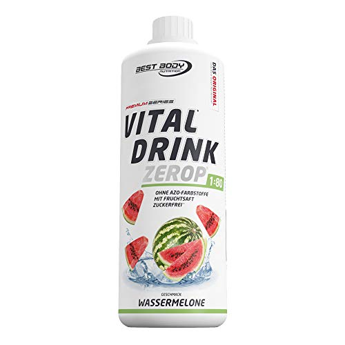 Best Body Nutrition Vital Drink ZEROP - Wassermelone, zuckerfreies Getränkekonzentrat, 1:80 ergibt 80 Liter Fertiggetränk, 1000 ml