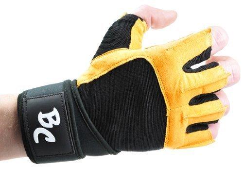 Bad Company   Fitness Handschuhe The Bat   Trainingshandschuhe aus Leder   Inkl. Handgelenkstütze