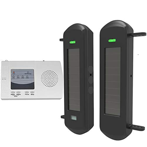 HTZSAFE Solar Wireless Driveway Alarm System-1/2 Mile Long Transmission Range-300 Feet Wide Sensor...