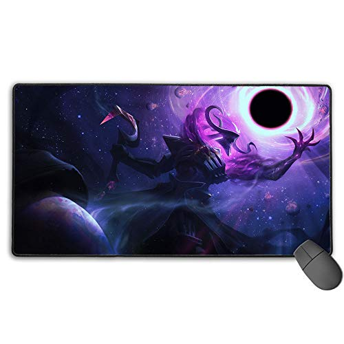 Extended Gaming Mouse Pad for League Legends Thresh darkstar, Computer Keyboard Mouse Mat Waterproof Non-Slip Rubber for PC Computer Laptop 15.8x35.5 in(40cm X 90cm)