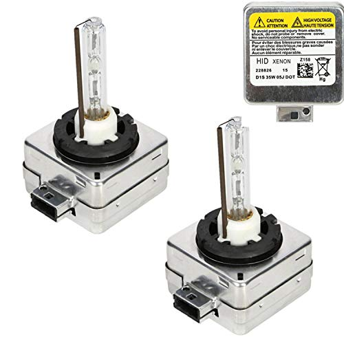 CICMOD Ampoules D1S/C, 1 Paire D1S D1C 35W 6000K Xénon HID Ampoules Lampes de Remplacement