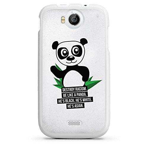 DeinDesign Wiko Cink Peax 2 Hülle Silikon Case Schutz Cover Sprüche Panda Weiß