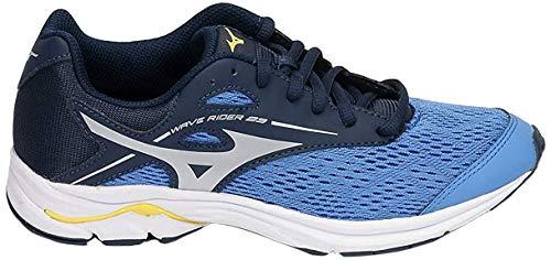 Mizuno Wave Rider 23 Jr, Zapatillas de Running Unisex niños, Azul Campanula Plata Vestido Blues 3, 37 EU