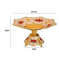 Mei-YY プレート/皿 ハイグレード合金スナックディッシュフルーツプレートスナックプレートメロンフルーツスナックプレート、L 食器