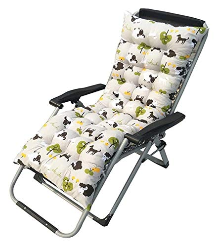 Chair Seat Pad Sun Lounger Chair Cushions Non-Slip Rocking Chair Cushion Garden Recliner Quilted Thick Padded Seat Cushion Reclining (61 * 19 Inch) for Office Chair Lumbar Support Back Pillow