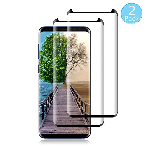 [2 Pack] Galaxy S9 Screen Protector [9H Hardness][Anti-Scratch][Anti-Bubble][3D Curved] [High Definition] [Ultra Clear] Tempered BBInfinite Compatible Samsung Galaxy S9 Black
