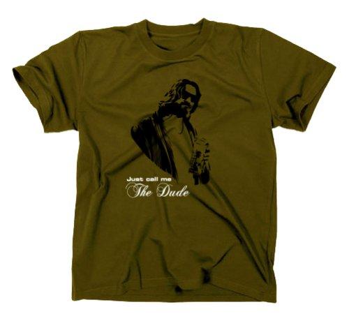 The Big Lebowski The Dude T-Shirt Kult, oliv, XL