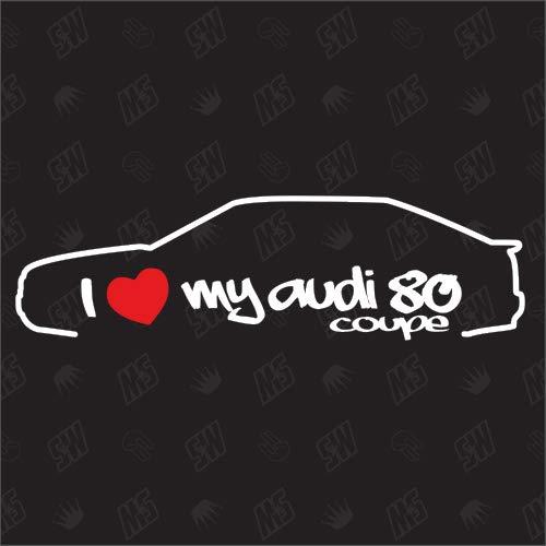 speedwerk-motorwear I Love My 80 Coupe - Sticker, B4, B5, kompatibel mit Audi 80