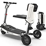 ATTO Folding Mobility Scooter by Moving Life, Full-Size Portable Electric Scooter for Adults, Lightweight Lithium Battery, Airline Approved