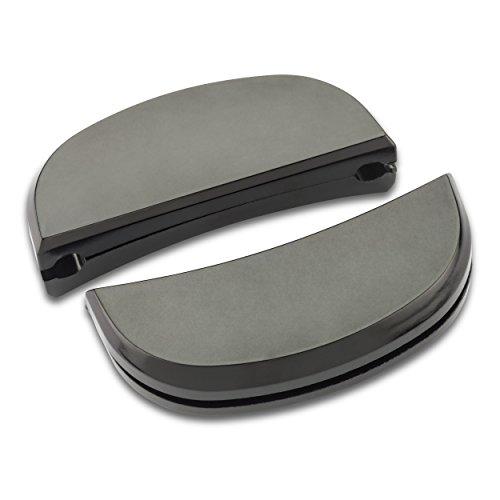 Lagostina Ersatzteile - EIN Paar Griffe aus Kunststoff mit Schrauben, Schwarz Misura 4 Schwarz