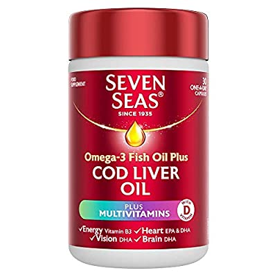 Seven Seas Cod Liver Oil Plus Multivitamins Capsules, 30-Count, 5012335792005