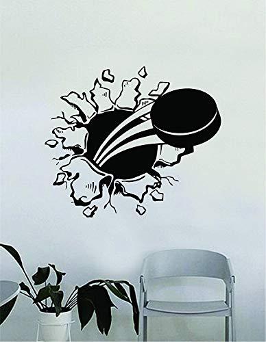 Hockey Puck Burst muursticker decoratie Sticker Vinyl Art slaapkamer kamer tiener citaat sport schaats goalie