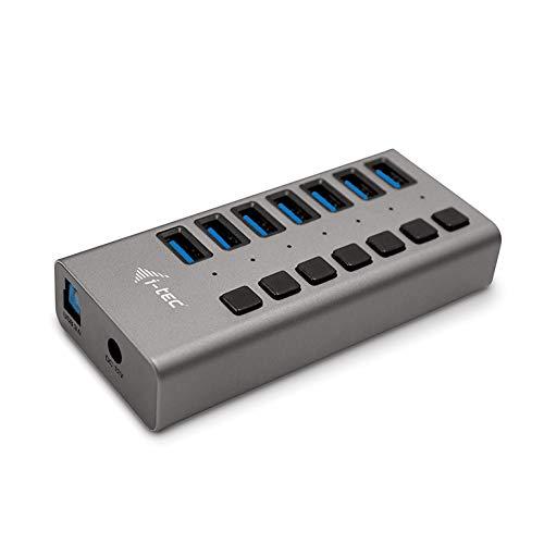 i-tec USB 3.0 HUB 7-Port mit Externem Netzadapter 36W - 7x USB 3.0-Anschluss, Kompatibel mit Laptop, Tablet, PC