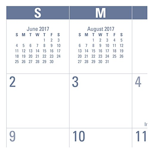 """AT-A-GLANCE Academic Desk Pad Calendar, July 2017 - June 2018, 21-3/4"""" x 17"""", Monthly, E-Z Read (SKLPAY32) Photo #2"""