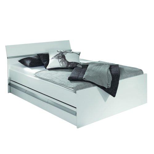 Rauch Möbel Apulien Bett mit Stauraum in Weiß, inklusive Schubladen, Liegefläche 90x200 cm, Gesamtmaße Bett BxHxT 95x90x209 cm