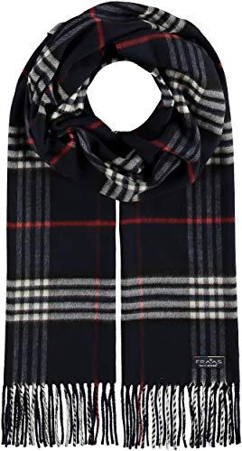 FRAAS Cashmink® Schal kariert für Damen & Herren - 35 x 200 cm - Made in Germany - Warmer XXL-Schal - Plaid Schal weicher als Kaschmir - Perfekt für den Winter Marine