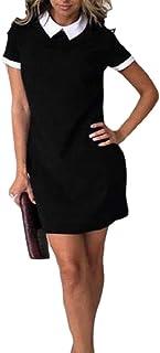 Keaac 女性カジュアルソワールピーターパンカラーショーツドレス