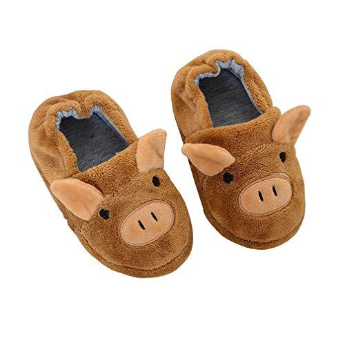 Hezeisoar Zapatillas de Estar por Casa Unisex Niños Lindo Suave Pantuflas Invierno Niñas Niños Algodón Calentar Zapatilla