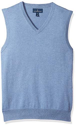 BUTTONED DOWN Men's Supima Cotton Lightweight Sweater Vest, blue, X-Small
