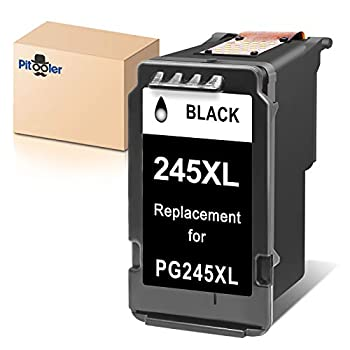 Pitooler Remanufactured Ink Cartridge Replacement for Canon PG-245XL 245 XL PG-243 Black Use with Pixma MG3022 MG2522 TR4520 TR4522 MG2922 MG2920 TS202 MX492 MX490 iP2820 TS302 MG2520 Printer 1-Pack