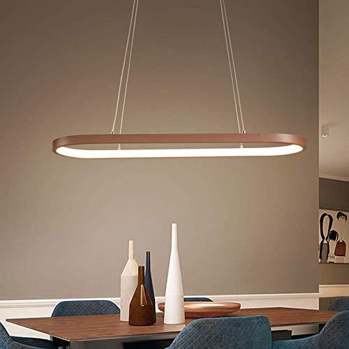 Living Equipment Suspensión Lámpara LED Marco Candelabro de aluminio Luz de techo Luminarias rústicas Comedor colgante Lámpara ovalada de metal ajustable en altura Sala de estar Dormitorio Cocina L