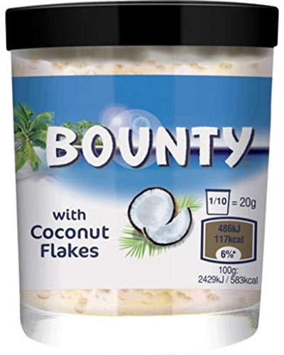 Bounty Milk Chocolate Spread with Coconut Flakes 200g - süßer Brotaufstrich (6x200g)