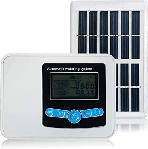 Automatic Watering System, 2020 Upgrade Solar Garden Automatic Watering Device Outdoor Plants Self Drip Irrigation Solar Energy Charging Timer System Potted Plant Drip Irrigation for Potted Plants