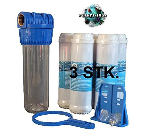 Planet-Aqua Filtergehäuse Set 10 Zoll 1