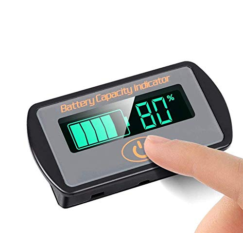 Battery Monitor Meter DC 5V66V Lithium Lead acid iron phosphate Battery Capacity Tester Percentage Level Voltage Monitor Indicator 12V 24V 36V 48V 60V LCD Display Module