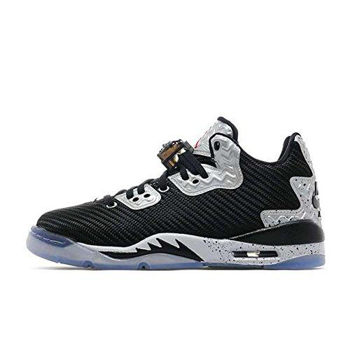 Nike Jungen Air Jordan Spike Forty Low bg Basketballschuhe, Black (Black (schwarz/Feuerrot-reines Platin), 37.5 EU