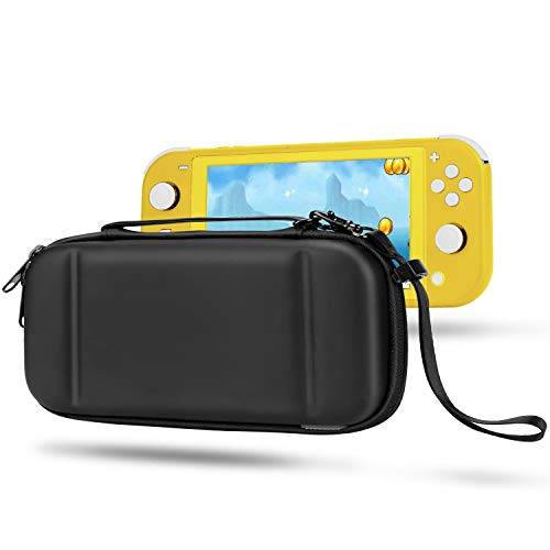 Compatible with Nintendo Switch Lite Case EVA Protective Carrying Case for Switch Lite Cover Video Game Accessories for Nintendo Switch Lite Gifts for Men Husband Kids Teens (BlackLeather)