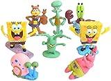 Dyrcj decoraciones de peceras muñeca esponja juguetes de modelado lindos adornos de micropaisajes refugios de peces y camarones regalo de 8 piezas
