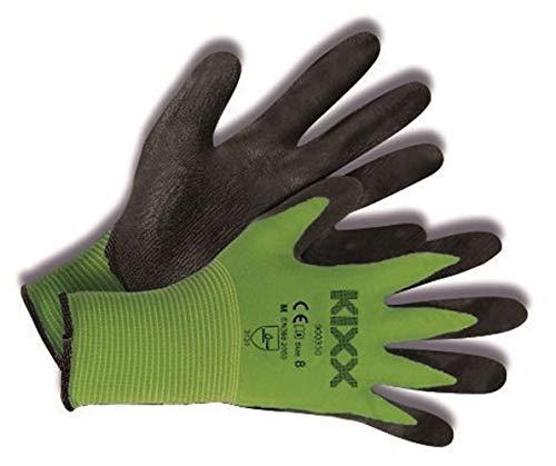 KIXX Nylon/Polyurethan Handschuh, Schwarz, Grün, 6