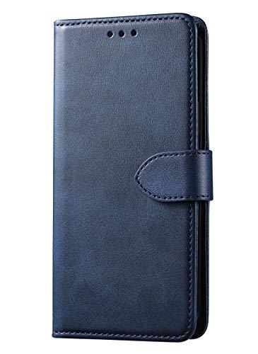 GIOPUEY Leder Hülle für Oppo A16/A16S, All Inclusive Flip Leder Hülle Cover, 3 Kartenfach Halterungs Funktion Handyhülle für Oppo A16/A16S - Blau